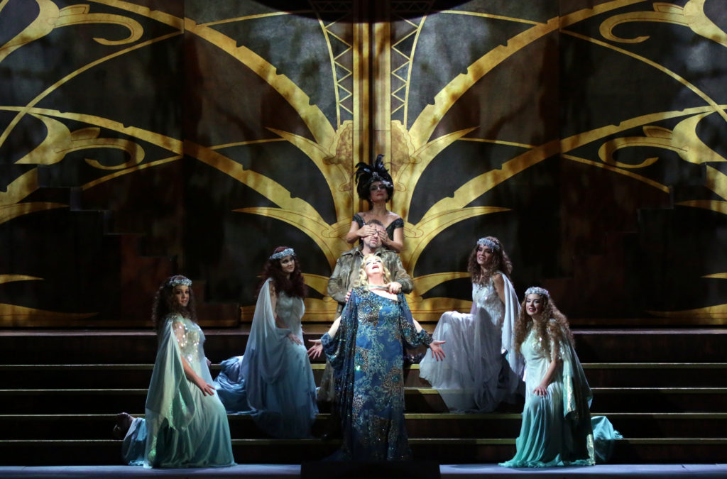 Die Ägyptische Helena at Teatro alla Scala with Franz Welser-Möst, Ricarda Merbeth, Andreas Schager, Eva Mei, Thomas Hampson u.a.staging Sven-Eric Bechtolf