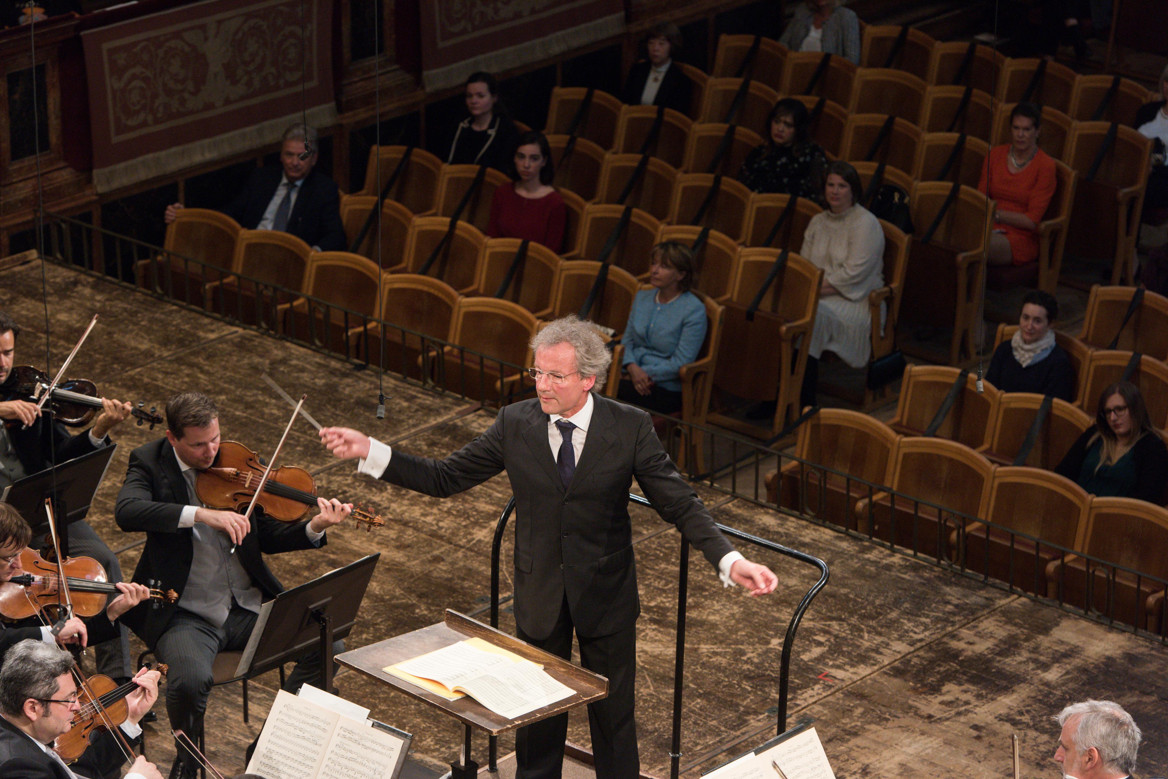 Franz Welser-Möst und die Wiener Philharmoniker im Juni 2020 Post-Corona im Musikverein Wien